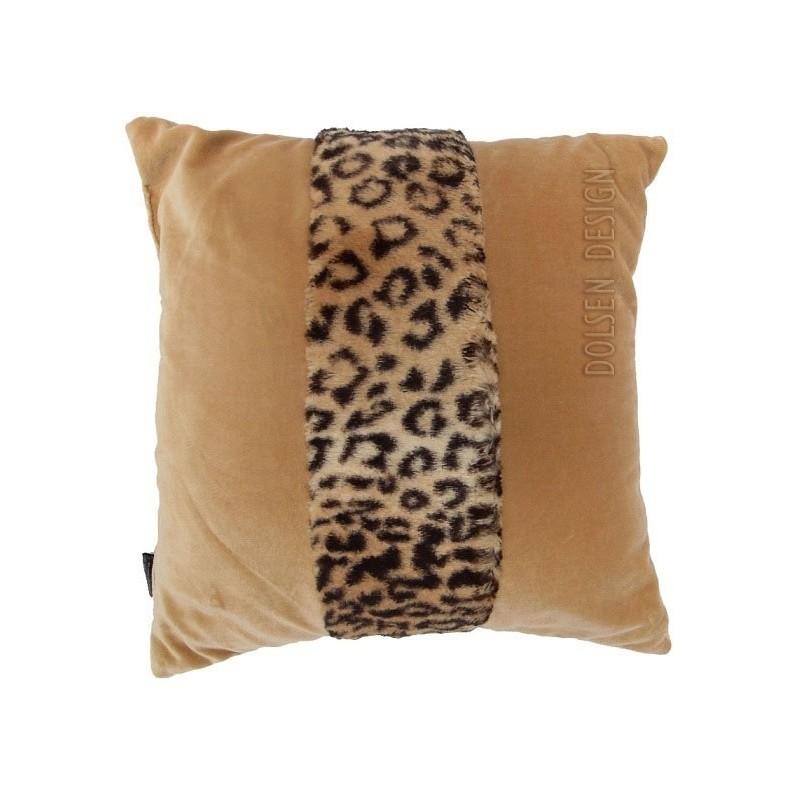 lampart fox faux fur pillowcase brun  cushion cover