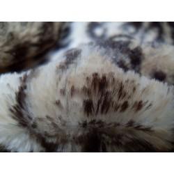 Leopard Kunstfell- Kissenbezug brun