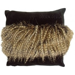 housse de coussin en imitation des plumes du faisan brun noir