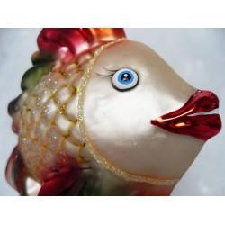 Weihnachtskugeln Fisch - handgefertigte Weihnachtsschmuck aus Glas Christbaumkugeln