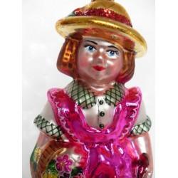 rosa Mädchen - handgefertigte Weihnachtsschmuck aus Glas handbemalte