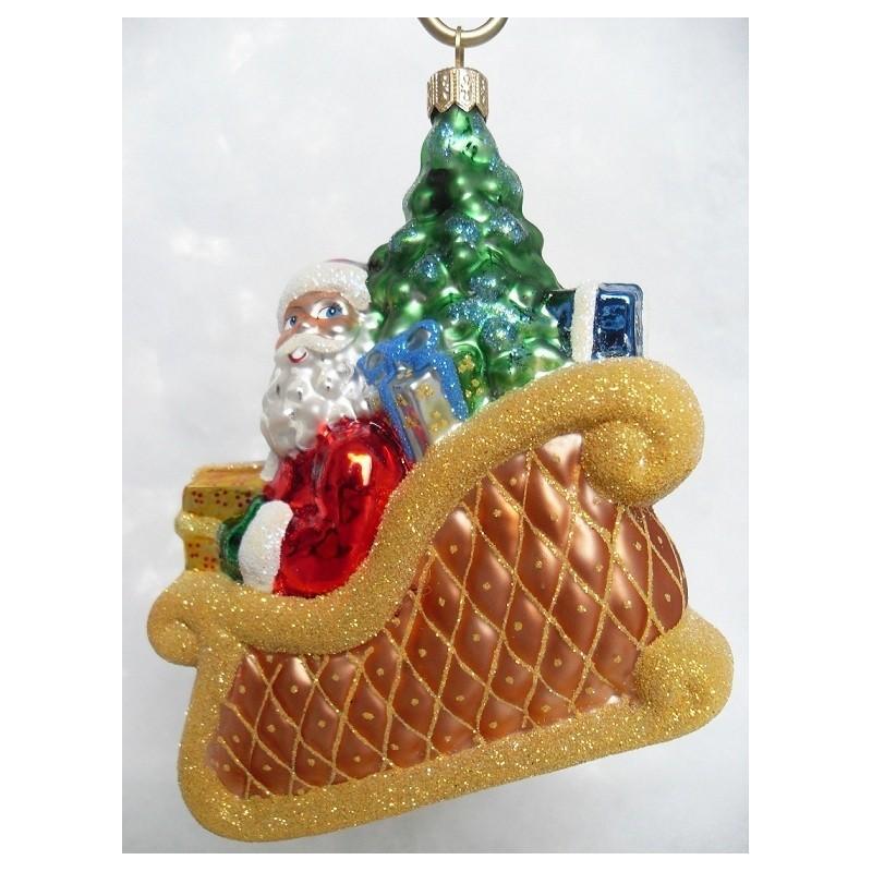 goldenen schlitten handgefertigte weihnachtsschmuck aus glas. Black Bedroom Furniture Sets. Home Design Ideas