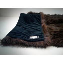 braune plaid fellimitat decke felldecke tagesdecke aus frankreich dolsen design. Black Bedroom Furniture Sets. Home Design Ideas