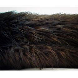 Koc narzuta ze sztucznego futra niedźwiedzia brązowy