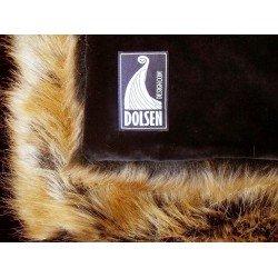 narzuta koc pled ze sztucznego futra rudego lisa Dolsen Design