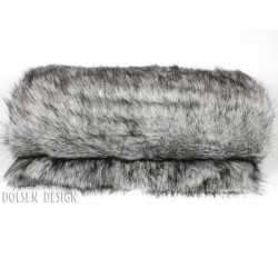 silver fox faux fur throw blanket  color silver / gray