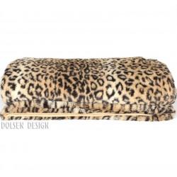 Leopard plaid fausse fourrure