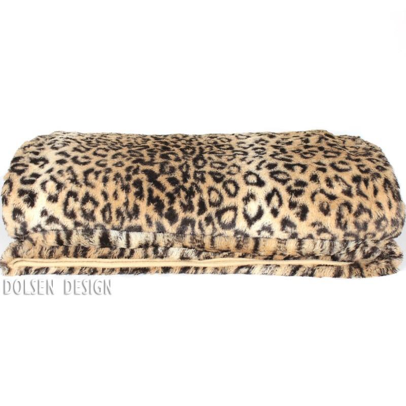 leopard webpelzdecke fellimitat decke 140x170cm. Black Bedroom Furniture Sets. Home Design Ideas
