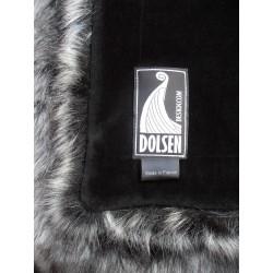 blanket silver fox faux fur throws color: silver / gray Dolsen Design