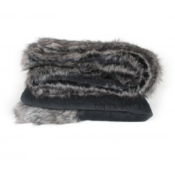 silver fox faux fur blanket 140x140cm