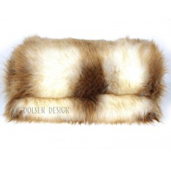 young red fox faux fur throw blanket white ginger