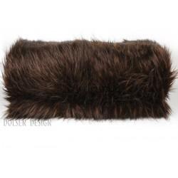 couvre lit couverture en fausse fourrure ours brun