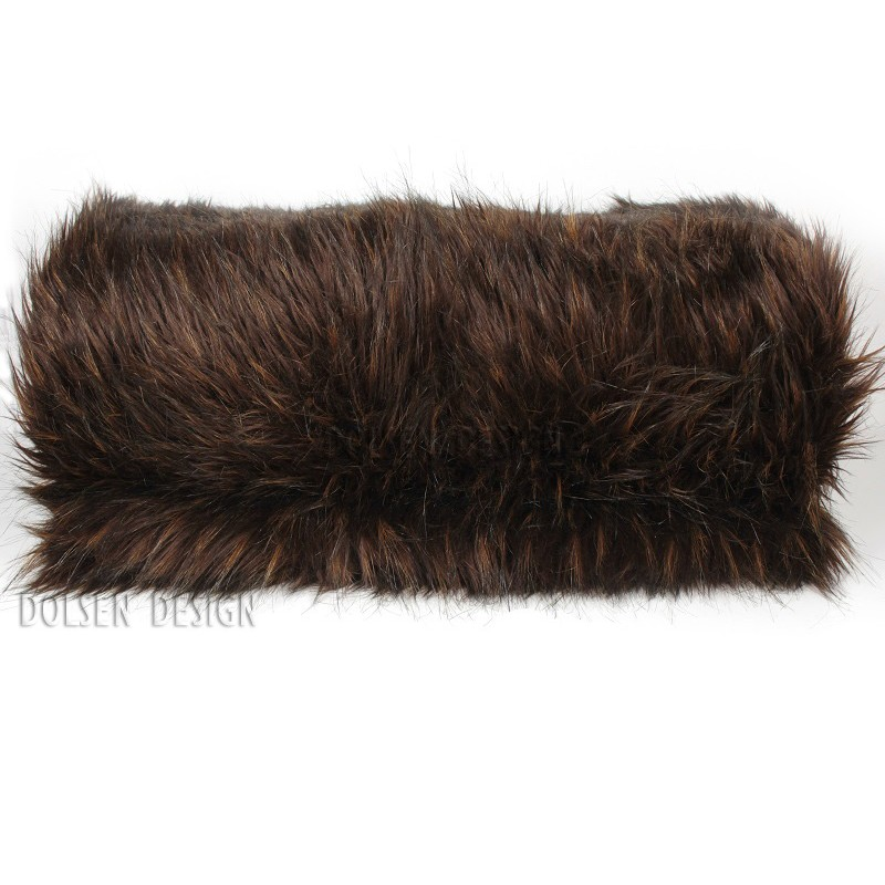 Brown faux fur throw for sofa blanket