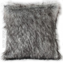 silver fox faux fur cushion case 50x50cm