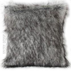 Silberfuchs Kunstfell-  Kissenbezug 40x40 cm