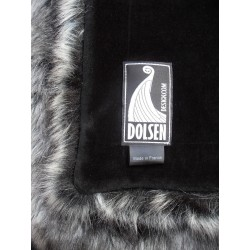silver fox faux fur frame throw colour: silver / gray