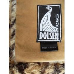 leopard faux fur throw blanket Dolsen Design